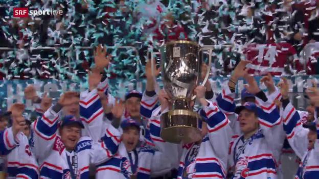 Video «Siegerehrung: ZSC Lions Cupsieger 2016» abspielen