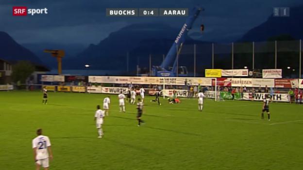 Video «Cup: Buochs-Aarau» abspielen