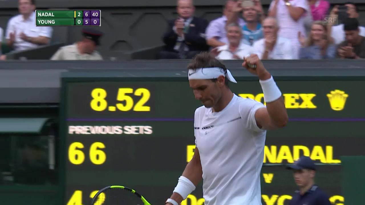 Nadal gegen Young ungefährdet