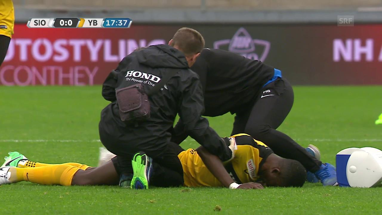 Sanogo verletzt sich ohne Fremdeinwirkung