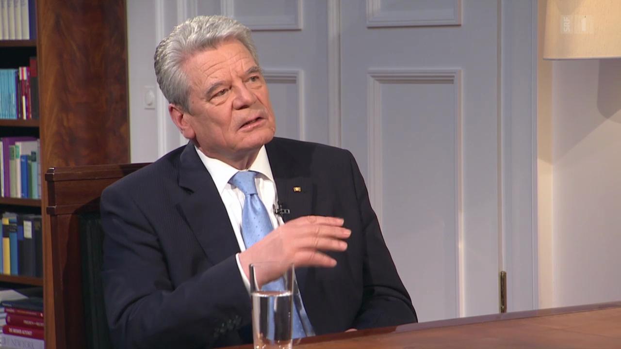 Der deutsche Bundespräsident Joachim Gauck im Exklusivgespräch