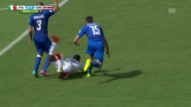 Video «Der verweigerte Elfmeter für Costa Rica» abspielen