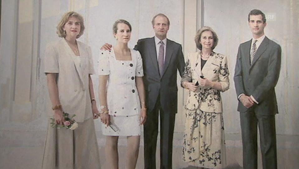 Die spanischen Royals bei der Präsentation des königlichen Familienporträts