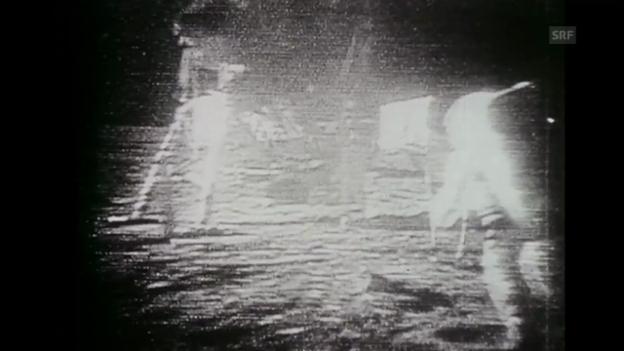 Video «Mondlandung (aus «Tagesschau Jahresrückblick», 30.12.1969)» abspielen