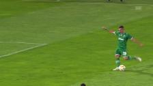 Link öffnet eine Lightbox. Video Keserüs sehenswertes Freistoss-Goal gegen Leverkusen abspielen