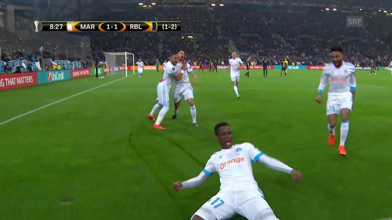 In Spektakel-Spiel: Marseille bodigt Leipzig