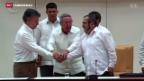 Video «Einigung auf Friedensvertrag in Kolumbien» abspielen