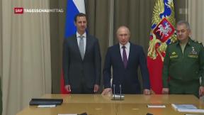 Video «Assad besucht Putin in Sotschi» abspielen