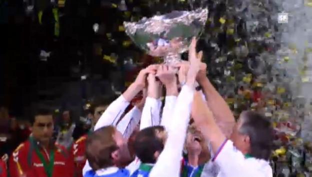 Video «Tschechien gewinnt den Davis Cup (unkommentiert)» abspielen