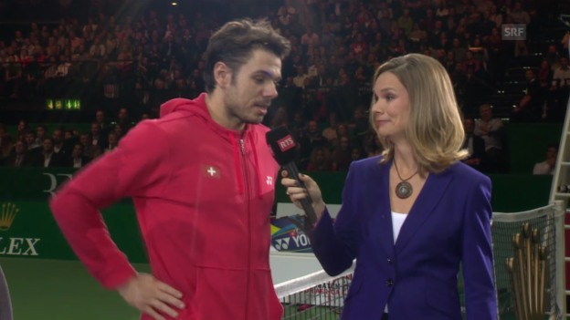 Video «Tennis: MfA, Interview Wawrinka» abspielen