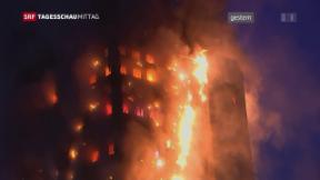 Video «Brand in London noch nicht gelöscht» abspielen