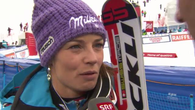 Ski: Riesenslalom Lenzerheide, Interview mit Tina Maze
