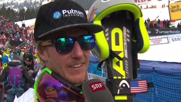 Video «Ski: Riesenslalom Lenzerheide, Interview mit Ted Ligety («sportlive», 15.03.2014)» abspielen
