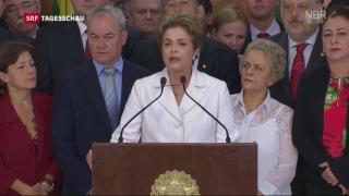 Video «Brasiliens Präsidentin wittert «Staatsstreich» gegen sich» abspielen