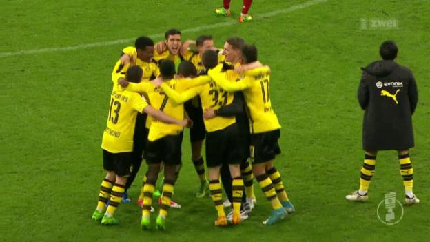Video «BVB eliminiert Bayern im DFB-Pokal» abspielen