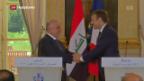 Video «Al-Abadi zu Besuch in Paris» abspielen