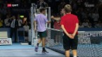 Video «Tennis: Swiss Indoors in Basel, Viertelfinals» abspielen