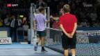 Video «Tennis: Swiss Indoors in Basel, Viertelfinals» abspielen