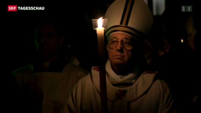 Papst feiert Osternacht