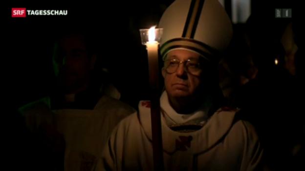 Video «Papst feiert Osternacht» abspielen