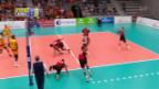 Video «3:2-Niederlage für die Schweizer Volleyballer» abspielen
