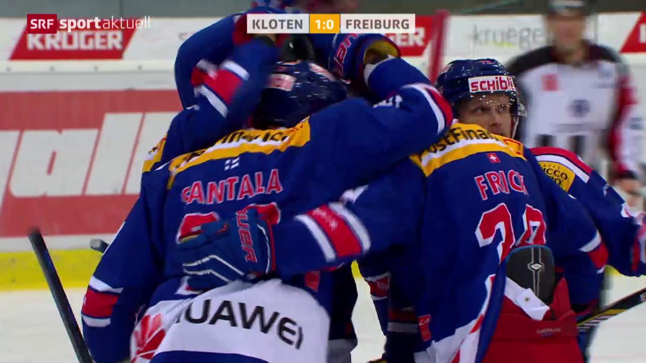 Eishockey: NLA, Kloten Flyers - Fribourg-Gottéron
