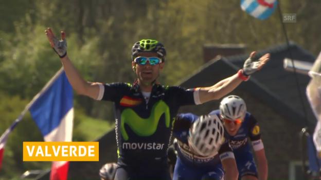 Video «Valverde lässt sich als Rekordsieger feiern» abspielen