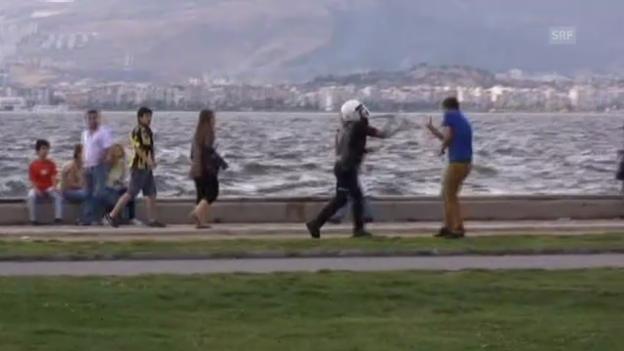 Video «3. Protestnacht in der Türkei (Tagesschau 3.6.)» abspielen