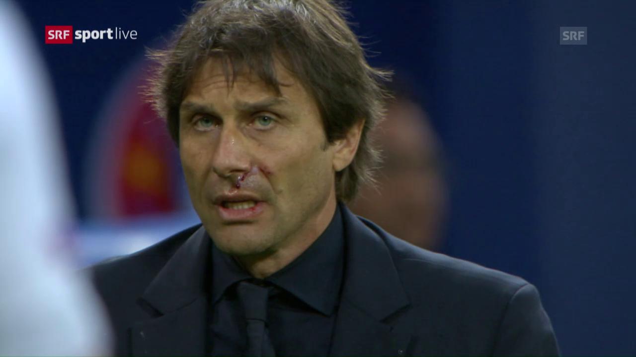 Italiens Coach jubelt bis er blutet
