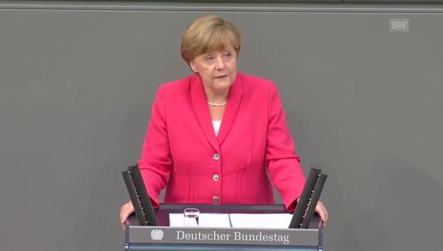 Video «Merkel: «Drei Möglichkeiten standen zur Wahl»» abspielen