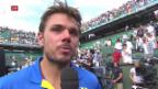 Video «Wawrinka: «Er hat dominiert» (frz.)» abspielen
