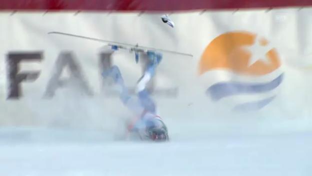 Video «Ski: Sturz von Dominique Gisin» abspielen