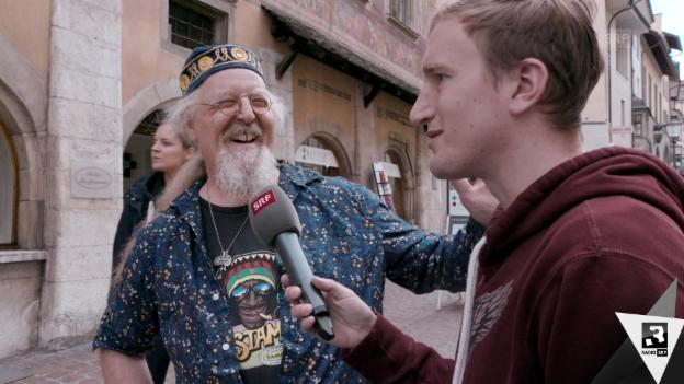 Video «Büssi on Tour: Schaffhausen ist ein Rheinfall» abspielen