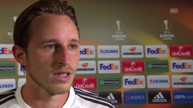 Video «Fussball: Europa League, Interview Luca Zuffi» abspielen