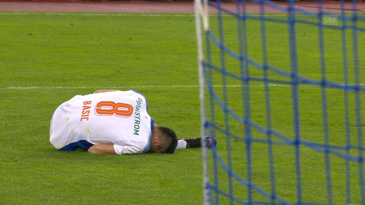 Marko Basic verletzt sich gegen St. Gallen schwer