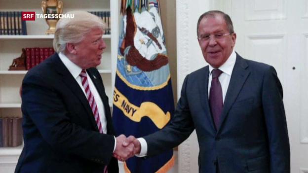 Video «Donald Trump empfängt Sergej Lawrow» abspielen