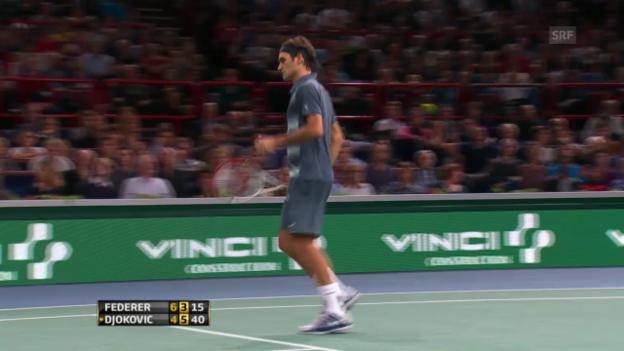 Video «Highlights Federer - Djokovic («sportlive»)» abspielen