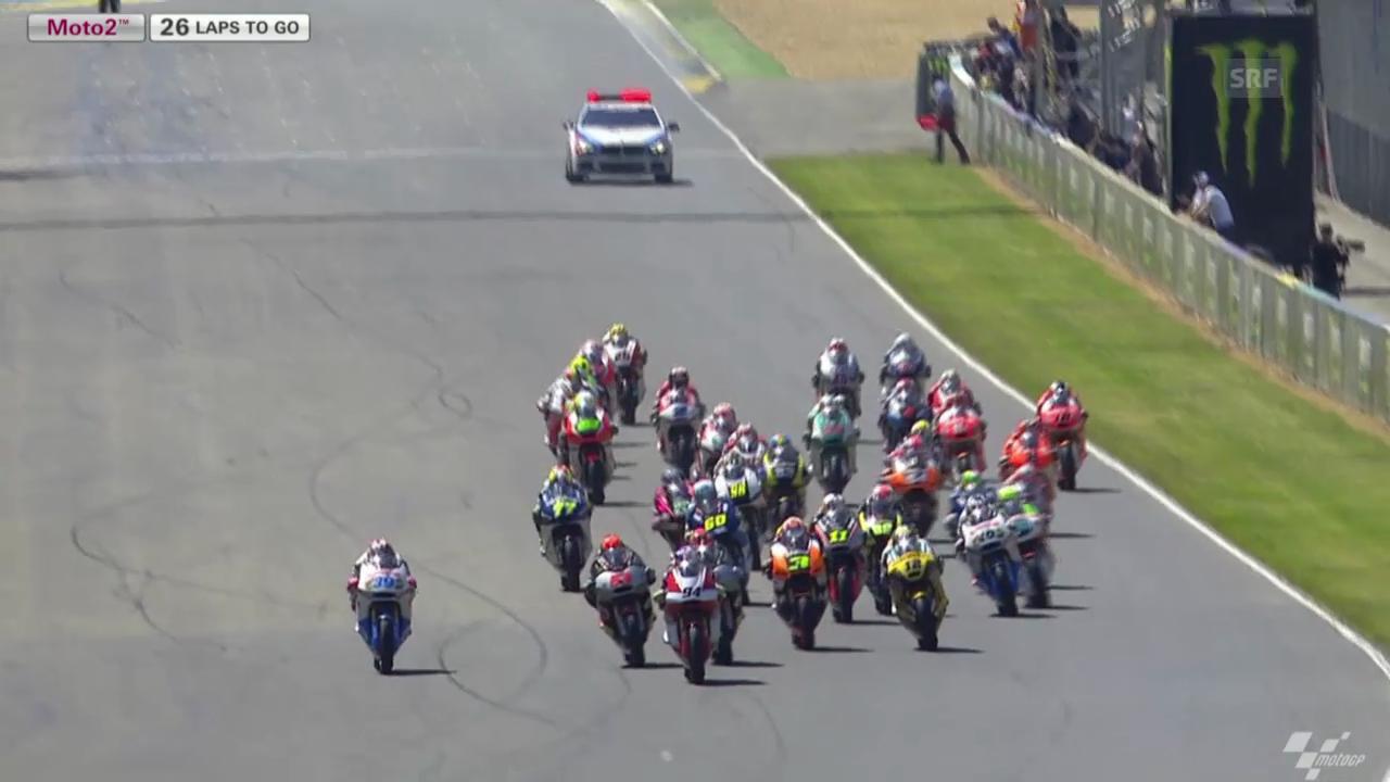 Motorrad: Start und Ziel Moto2-GP in Le Mans