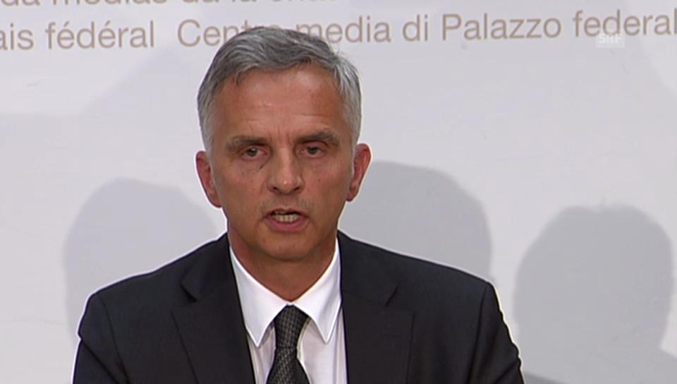 Medienkonferenz von Bundespräsident Dider Burkhalter