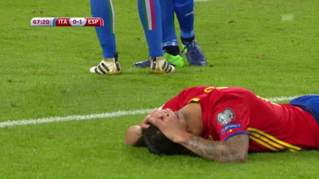 Video «Italien trotzt Spanien einen Punkt ab» abspielen