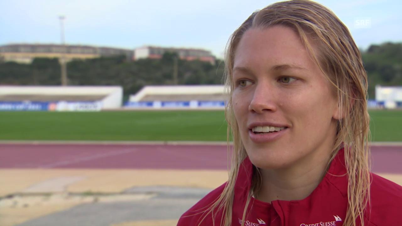 Fussball: Algarve Cup, Schweiz - Island, Interview mit Lara Dickenmann