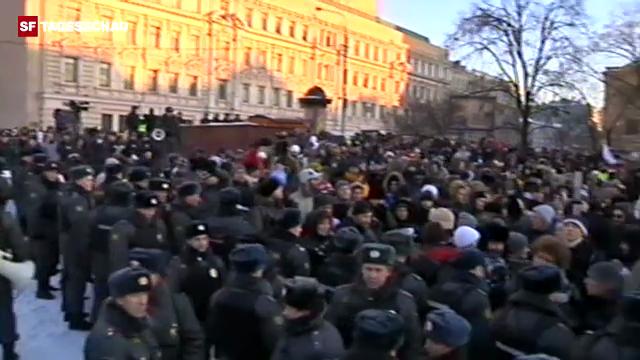 Proteste und Festnahmen in Moskau. (unkommentiert)