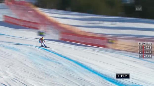 Video «Ski: Super-G, Lake Louise, Dominique Gisin» abspielen