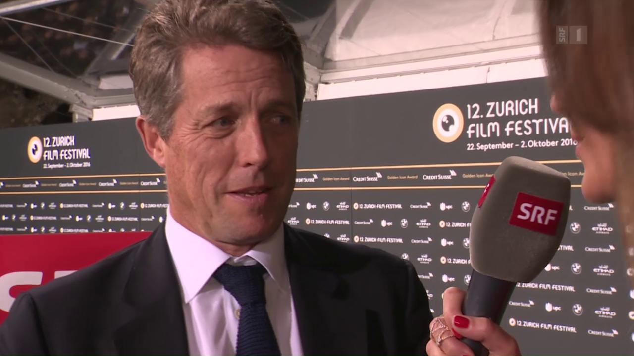 Hollywood in Zürich: Hugh Grant erhält «Golden Icon Award»