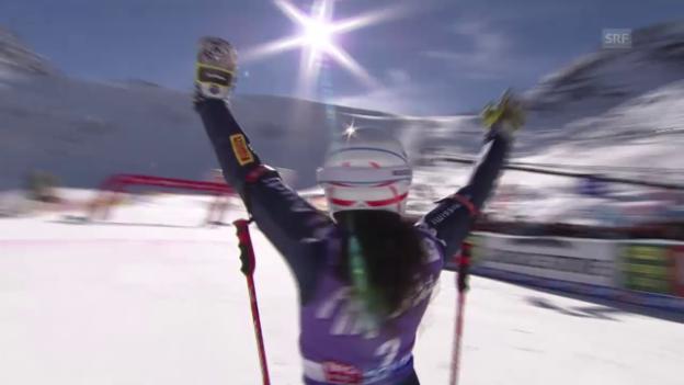 Video «Ski alpin: RS Sölden, 2. Lauf Brignone» abspielen