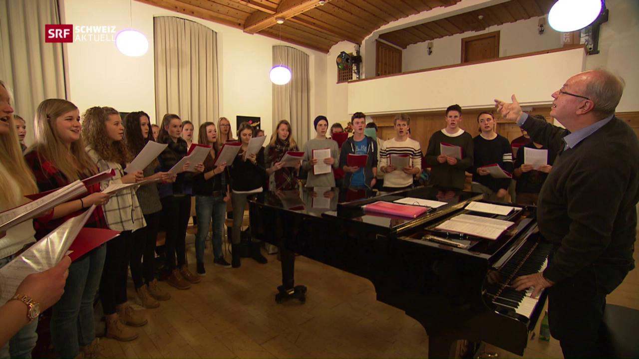 Schülerchor singt für Skicracks