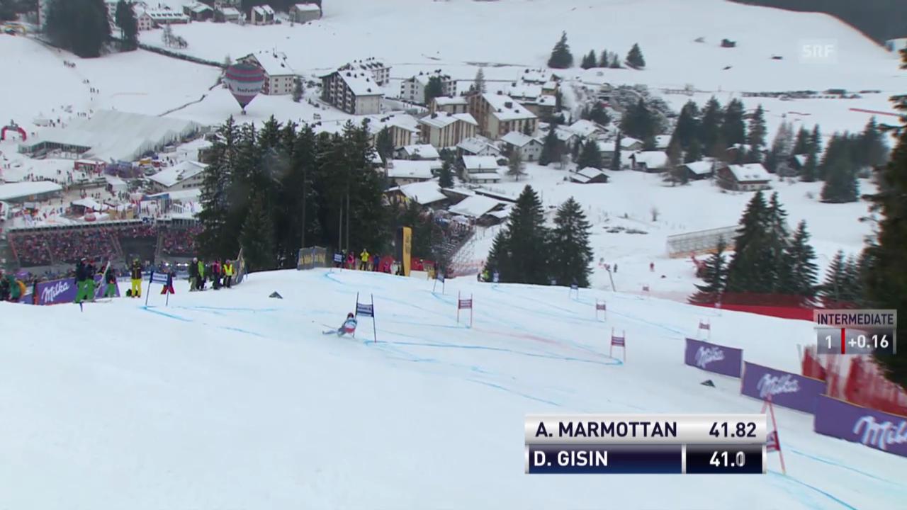 Der 1. Lauf von Dominique Gisin («sportlive», 16.03.2014)