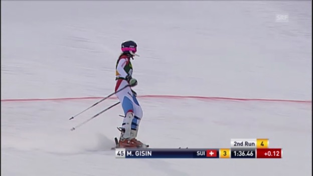 Video «Ski: Der 2. Lauf von Michelle Gisin im Slalom in Maribor» abspielen