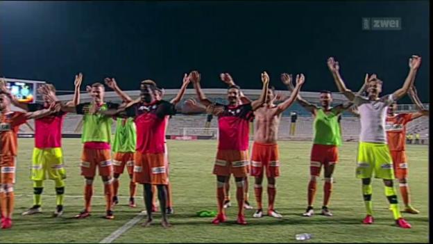 Video «GC nimmt die Hürde Apollon Limassol» abspielen