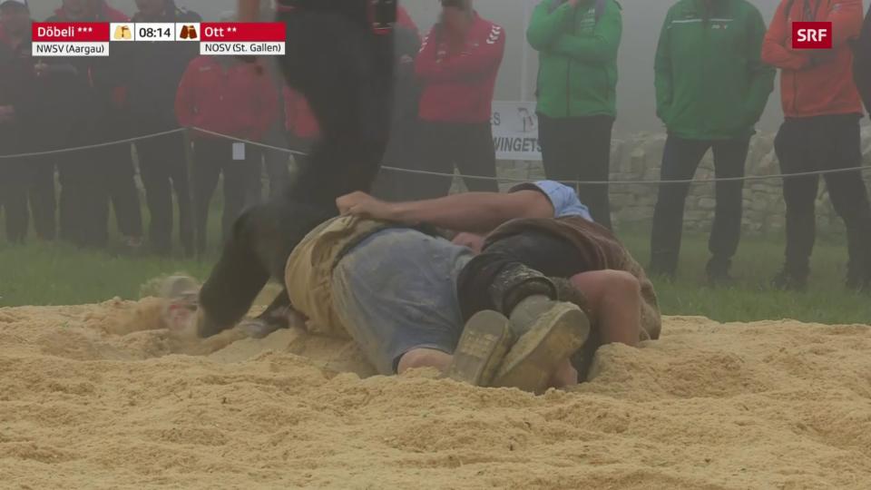La lutga finala tranter Damian Ott ed Andreas Döbeli (SRF)